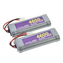 2x штекер аккумуляторной батареи Tamiya перезаряжаемый 7,2 в 4600 мАч RC серый NiMh