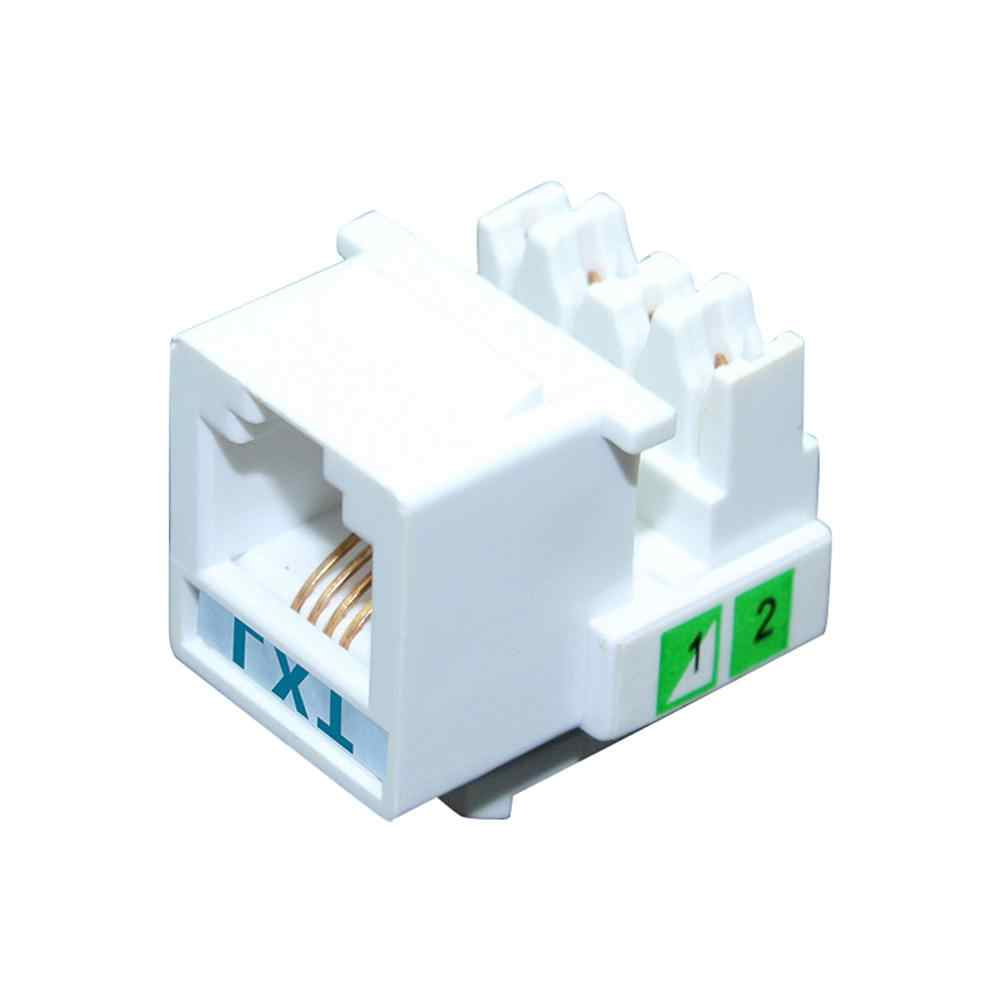 Cat3 RJ11 電話回線カップル挿入モジュール電話音声キーストーンジャックソケットケーブルアダプタテレコム音声新しい