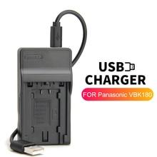 VW VBT190 VW VBT190 VW VBT380 Batterie Ladegerät für Panasonic Kamera HC VX980 HC W580 HC V180 HC V785 HC VX985 HC W585