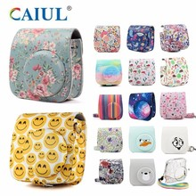 Fujifilm Instax Mini Camera Cover Pu Leather Cover Met Schouderband Voor Instax Mini 9 Mini 8 Mini 8 + instant Camera