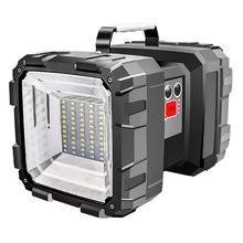 Супер яркий светильник с двойной головкой, поисковый светильник, USB перезаряжаемый портативный уличный аварийный светильник, солнечный рабочий светильник, рыболовный светильник