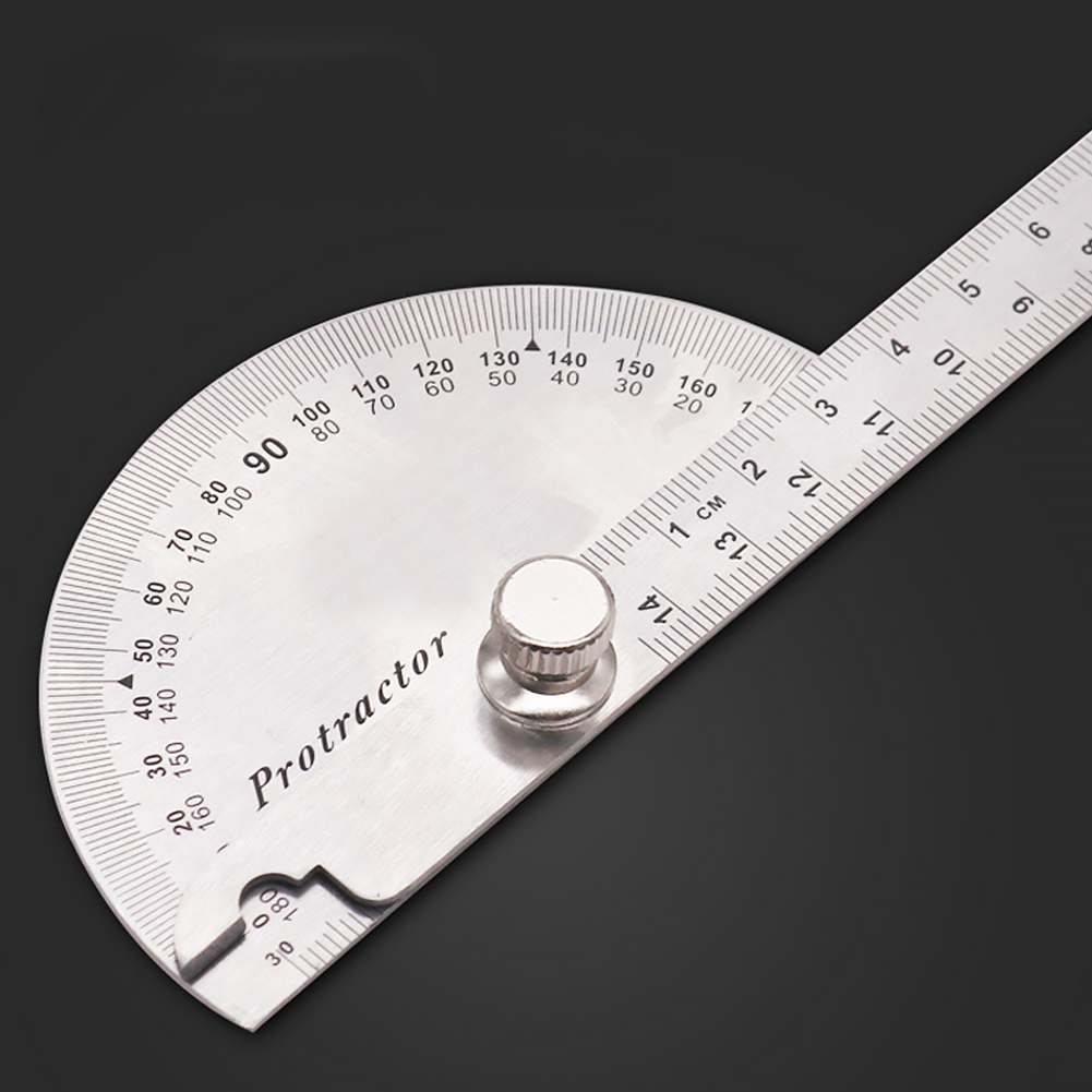 14.5cm 180 Degree Practical Protractor Angle Finder Craftsman Ruler Stainless Steel Caliper Measuring Tools Woodworking