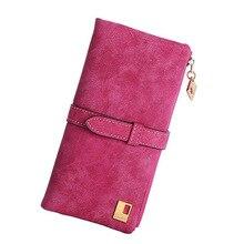 Drawstring Pu Wallet Women Leather 2 Fold Lady Purse Coin Pocket Korean-Style Long Fashion Soft Cord Holder Wallets