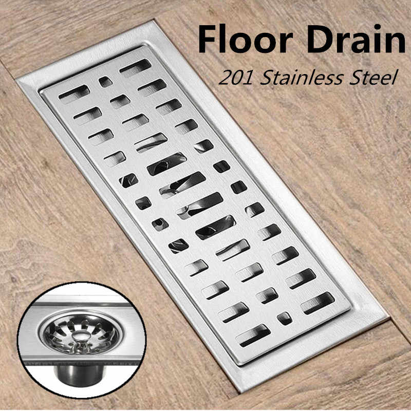 201 Stainless Steel 200*100 CM Anti Bau Saluran Air Kamar Mandi Linear Shower Floor Drain Kawat Saringan