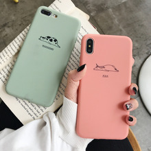 Ottwn Soft Silicone Fashion Phone Case For iPhone 8 7 6 6s Plus Cartoon Cute Antelope Cow Back Cover XR X XS Max