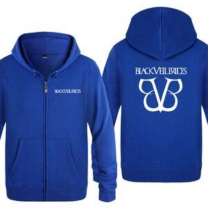 Image 5 - Black Veil Brides Rock Band Hoodies Men 2018 Mens Fleece Zipper Cardigans Hooded Sweatshirts