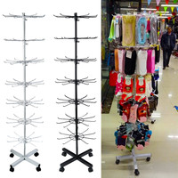 7 Tiers 70 Hooks Rotating Rack Socks Hat Cap Display Stand Hanger Wig Scarves Bracelet Pendant Storage Holder Shelf Rack Shelves