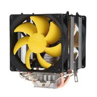 ALLOYSEED S90D Double Copper Heatpipe CPU Cooler fan Radiator PC Silent Cooling Fan Heatsink Gaming Cooling System