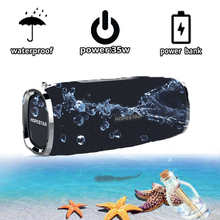 Hopestar A6 Bluetooth Speaker Portable Nirkabel Loudspeaker Suara Sistem 3D Stereo Tahan Air Luar Ruangan Besar Power Bank 35W(China)