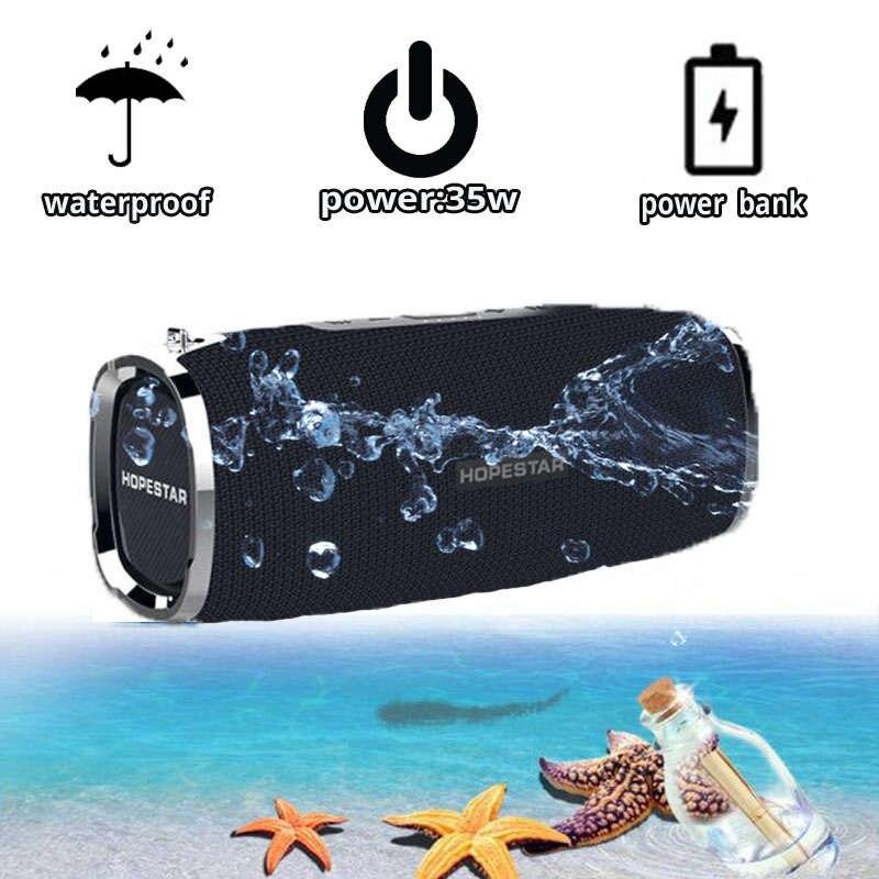 HOPESTAR A6 haut-parleur Bluetooth Portable sans fil haut-parleur système de son 3D stéréo extérieur étanche grande batterie externe 35 W