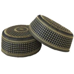 Image 5 - มุสลิมมุสลิมหมวกผู้ชาย Başörtüsü อาหรับตุรกี Topi Kufi หมวกยิว Kippah Namaz อิสลาม CAP Turbante Turco Hombre Kippot Bonnet