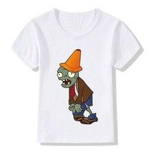 Children Plants Vs Zombies Printed Funny T-Shirts