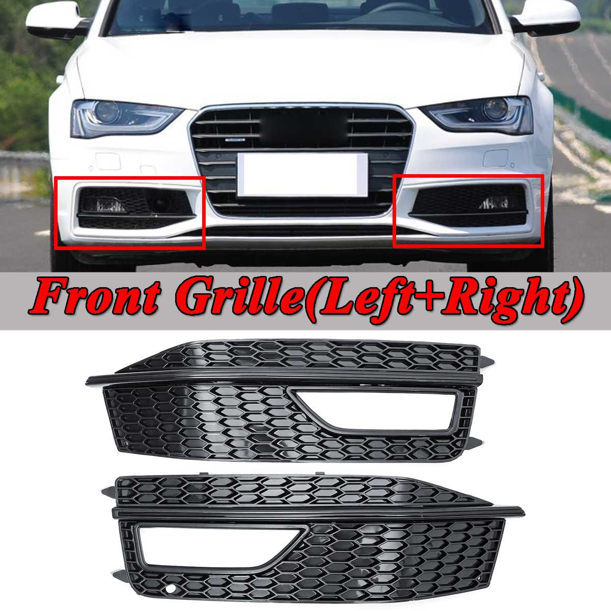 AUDI A4 B8 SEDAN 2009-2011 Rear Bumper Cover with holes for parking sensors