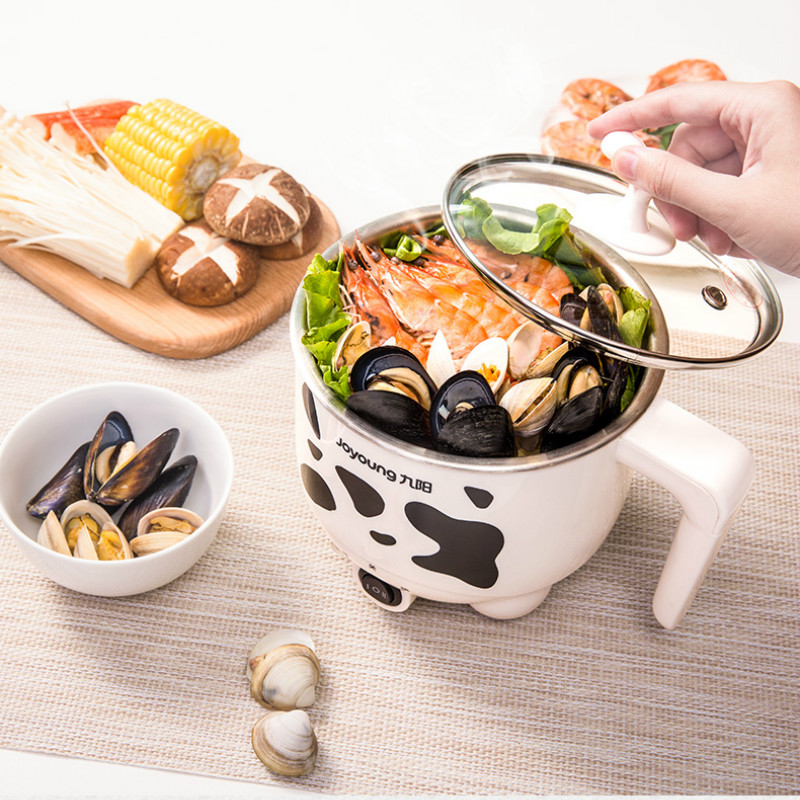 Famous Cow Design 1L Electric Multi Cooker Noodle Cooker Kitchen multicooker Steamer Egg Boiler Stainless Steel Hot Pot Hotpot