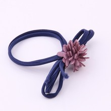 Newest Flower Elastic Hair Band For Lady Fashion Pastoral Style Rubber Bands Multi Layer Petal Rope Knot Tie Women