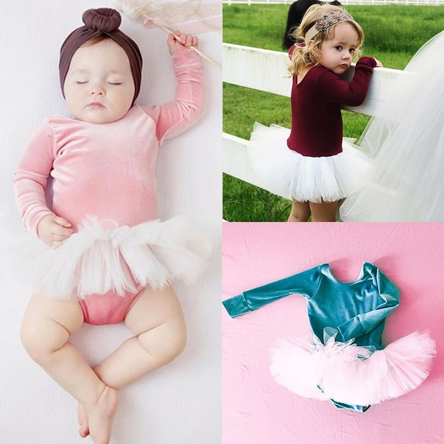 4c03cdaafd6b Princess Newborn Kids Baby Girls Velvet Long Sleeve Bodysuit Romper ...