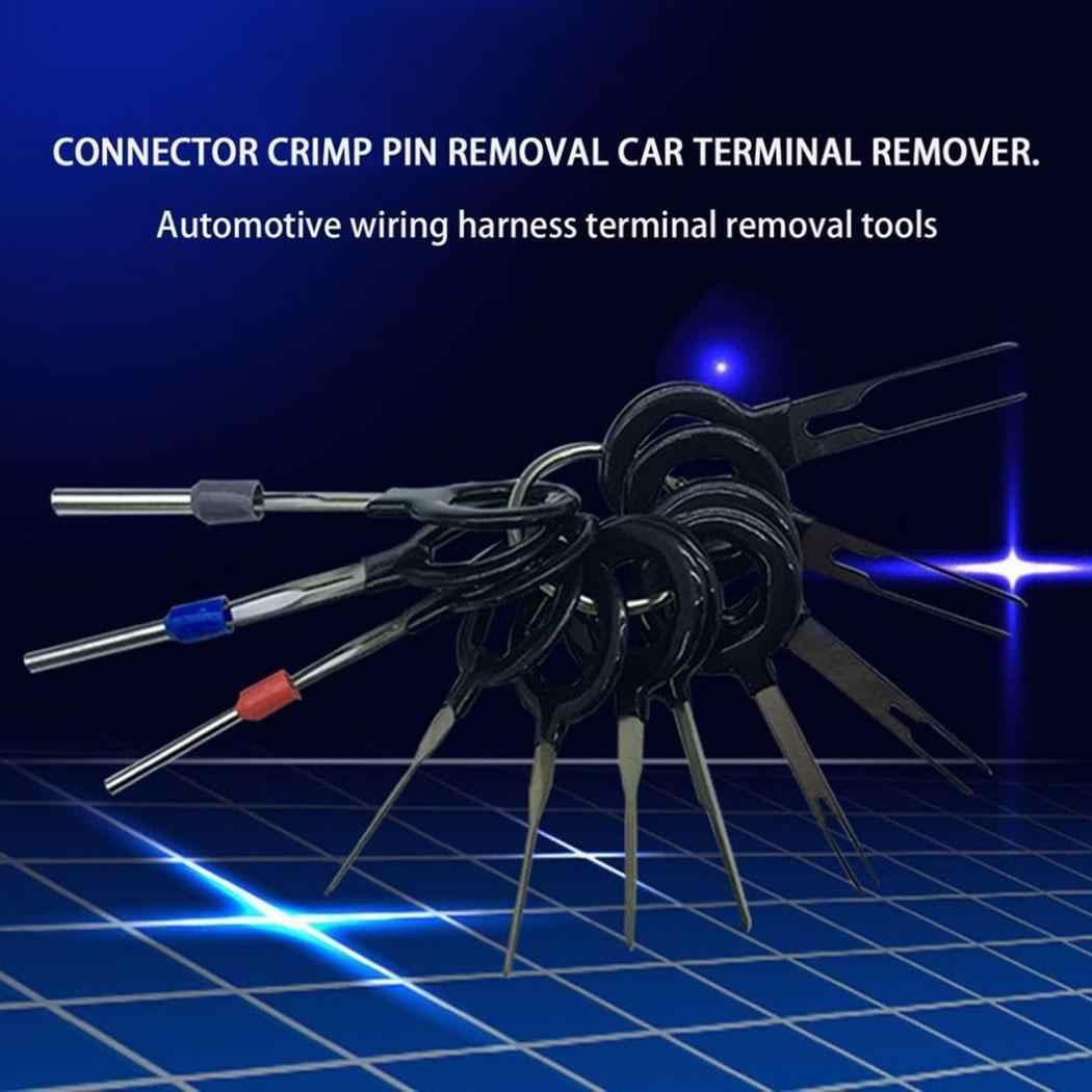 3/8/11/18/21/26 piezas Kits de herramientas de eliminación de terminales de Auto para coche cableado eléctrico kit de herramientas de eliminación de Terminal Extractor de conector de engarzado
