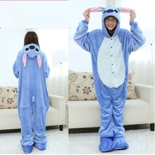 Long Sleeve Hooded Stitch Onesies  Pijama Cute Animal Stich Homewear Onesies For Adults