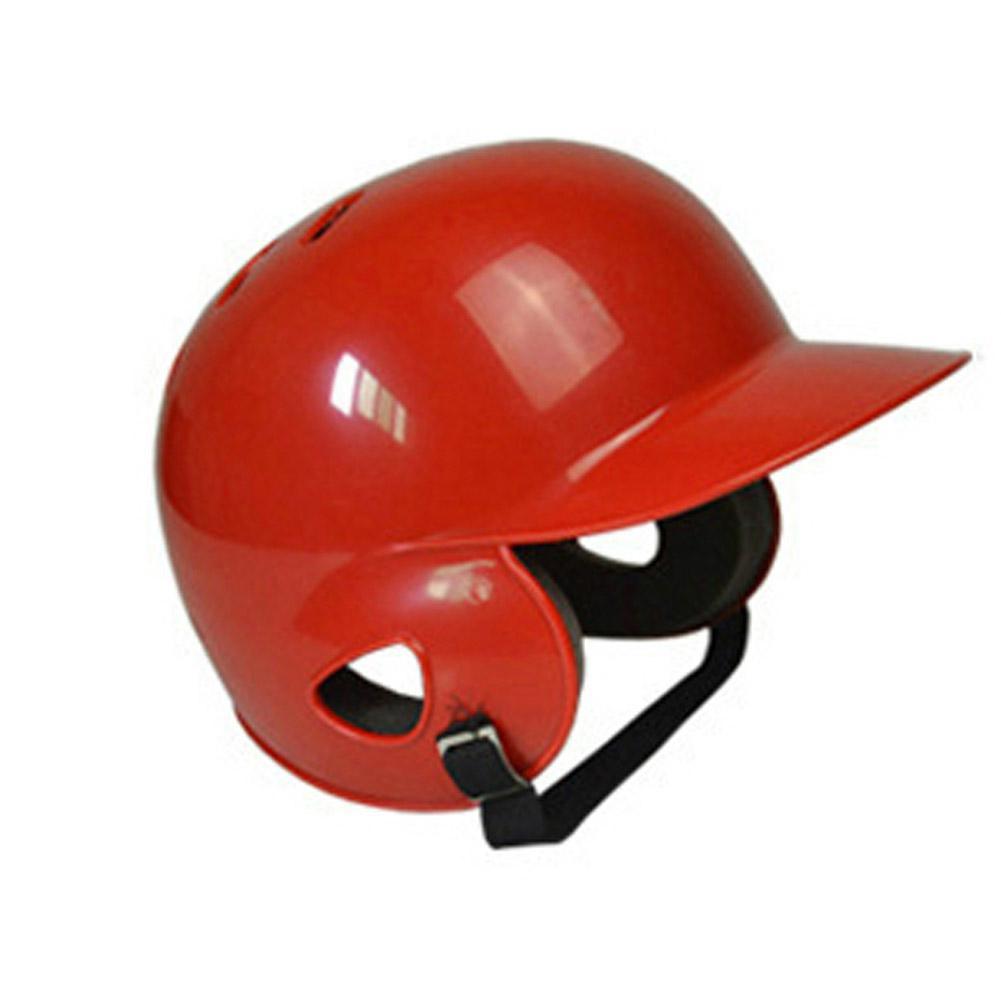 Mounchain Unisex Baseball Protect Helmet Breathable Ears Full Protection Baseball Helmet Head Guard Outdoor Sports Red 55-60 Cm