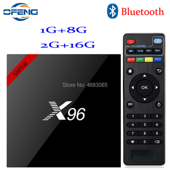 X96W Smart tv box android 7.1 1GB 8GB 2GB 16GB Amlogic S905W Quad Core H.265 4K 2.4GHz WiFi Media Player with Bluetooth
