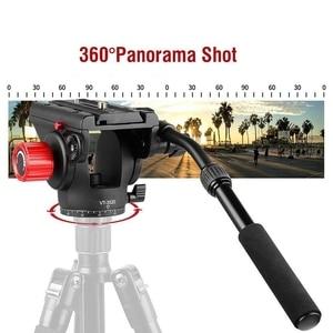 Image 4 - KINGJOY cabeza Vt 3520 panorámica de 360 grados trípode de arrastre fluido Pan cabeza W/placa de liberación rápida