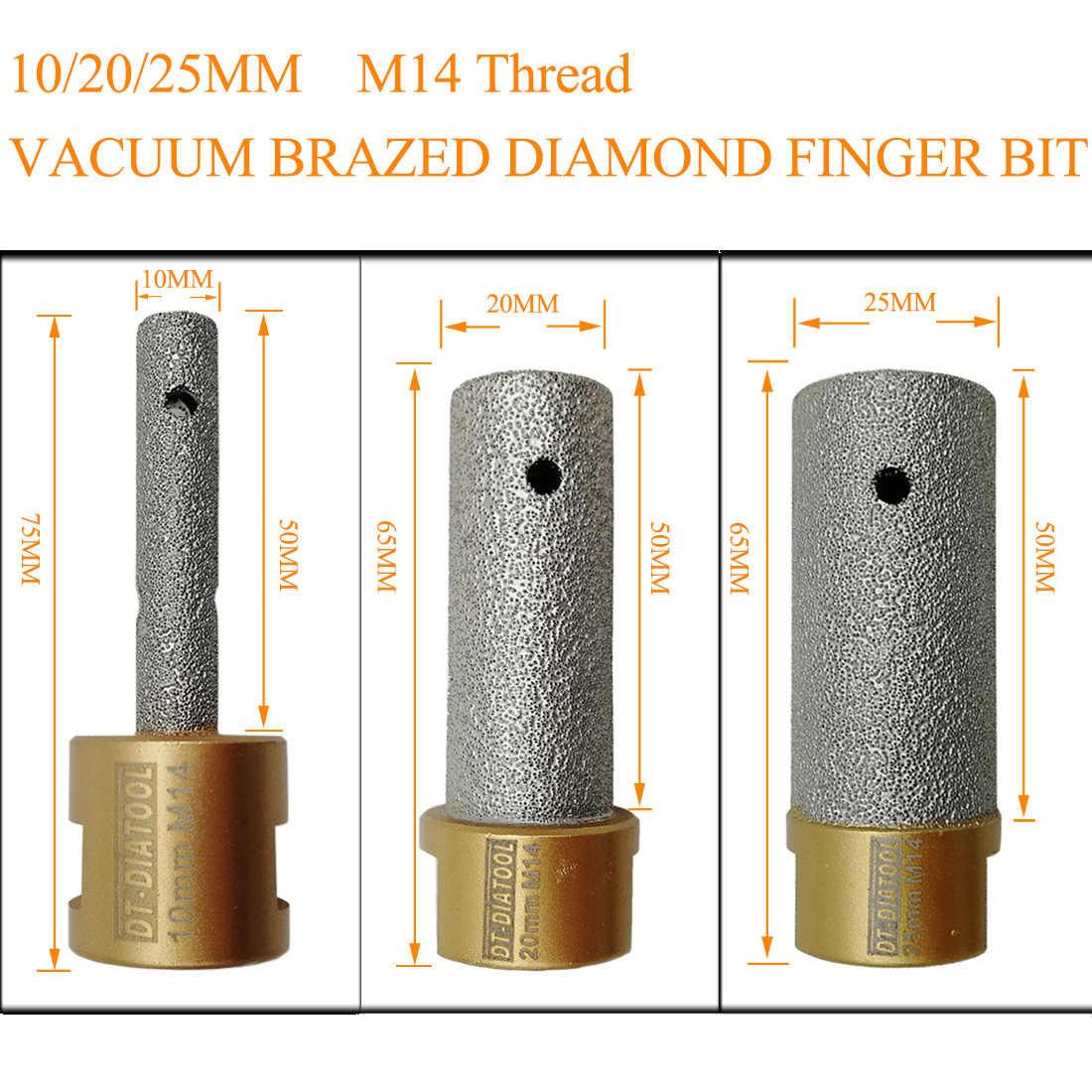 DT-DIATOOL Fresa de Diamante 10mm Broca Soldada Al Vac/ío para Agrandar Agujeros en Azulejo Porcelana M/ármol Cer/ámica Granito