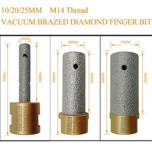 Image 2 - Brocas de diamante soldado al vacío para dedo, DT DIATOOL de 10/20/25mm de diámetro, rosca de 5/8 11 o M14, para granito de mármol y porcelana, 1 unidad