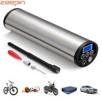 150PSI Mini Inflator Electric Portable Car Bicycle Bike Pump Electric Auto Air Compressor Bicycle Pumps EU PLUG with LCD Display