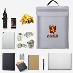 Image 5 - Bolsa portadocumentos a prueba de fuego, bolsa de seguridad para el hogar y la Oficina, resistente al fuego, carpeta de archivos, bolsa de almacenamiento segura