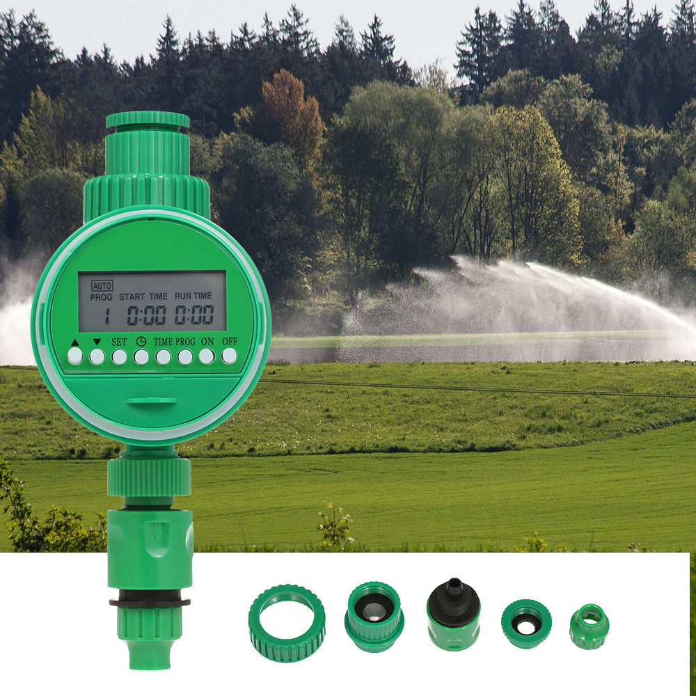 Tap Irrigation-System Watering-Timer Home-Ball-Valve Electronic Automatic LCD 1/2-3/4- title=