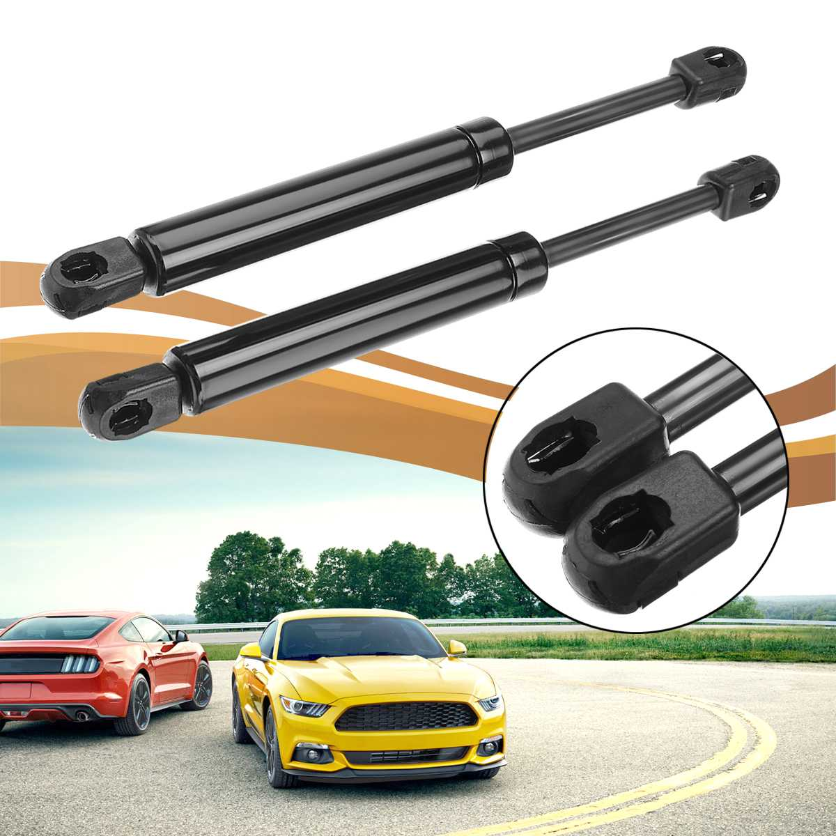 2Pcs Car Styling Auto Front Bonnet Hood Gas Springs Boot Struts Shock Lifters Support For Ford For Mondeo MK3 2000 - 2007