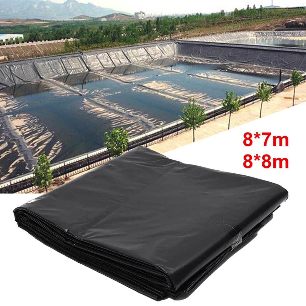 0.5mm Thicknes Fish Pond Liner Garden Pool Reinforced HDPE
