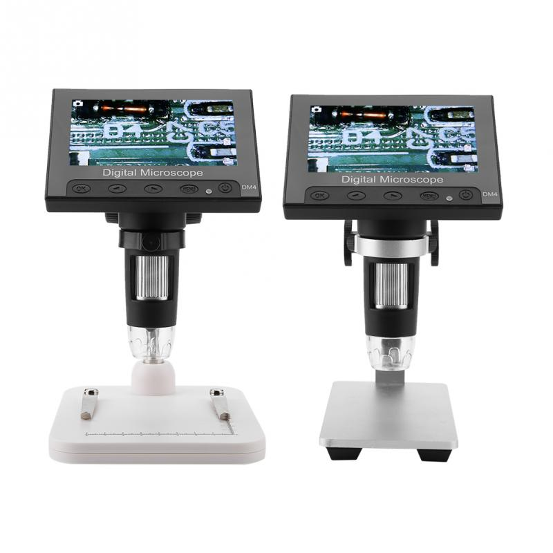DM4 2MP 500 1000X Digital Electronic Microscope 4 3 Display Magnifier Comes With a Support Platform