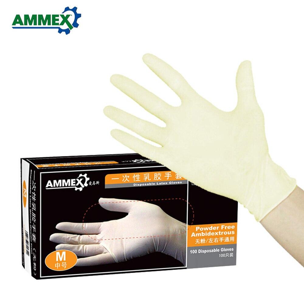 Ammex Usa E Getta Guanti In Lattice Addensare Guanti Di Gomma Multifunzionale Casa Di Cibo Guanti Medicali 100 Pz/pacco Sapore Fragrante (In)