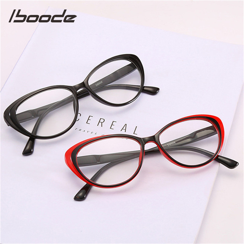 Iboode Cat Eye Reading Glasses Women Men Elegant Ultralight Presbyopia Glasses Unisex Reading Eyeglasses +1.0 1.5 2.5 3.5 4.0