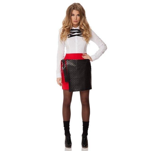 Приталенная юбка мини