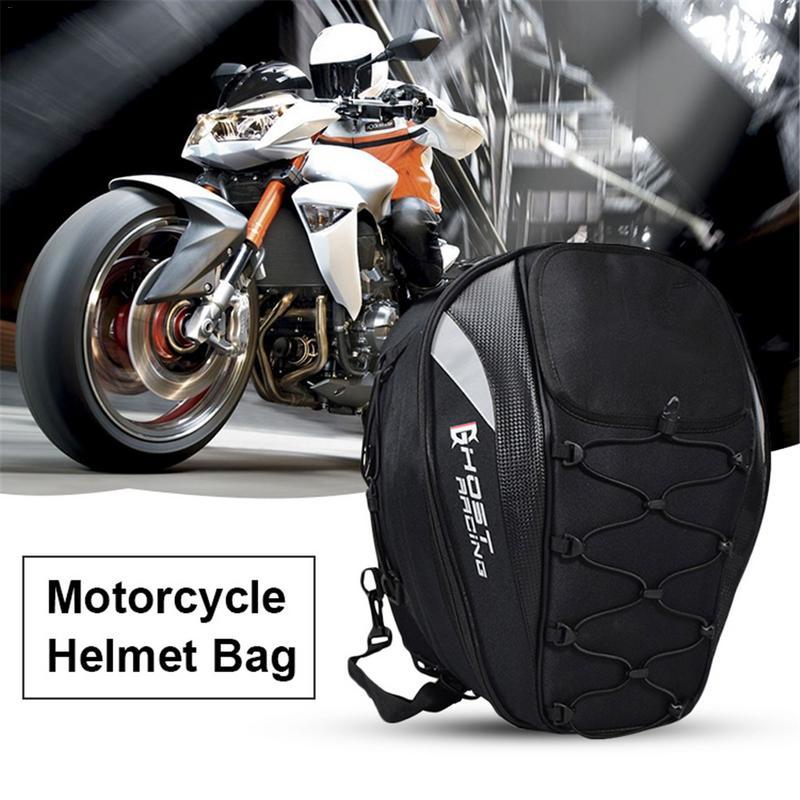 2019 New Motorcycle Tail Bag Racing Rear Seat Bag Motorcycle Helmet Backpack Locomotive Riding Multi Function Bag accessories