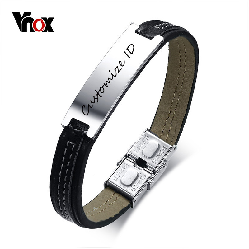 Vnox Engraving Black Men's...