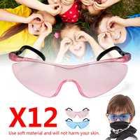 Анти-ветер Детская игрушка 12 шт. защитные очки защитный футляр для очков Военная игрушка игра розовый синий мягкий материал легкий