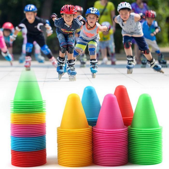 Шт. 1 шт. катание скейтборд Марк CupSoccer Футбол Регби скорость тренировочное оборудование отметки конусы слаломные ролики скейт ворс чашки