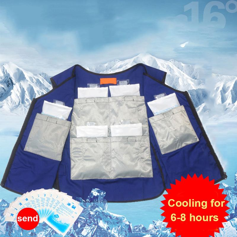 Summer Body Cooling Vest Ice Bag Air Conditioning Cooling Clothing For Outdoor Fishing Factory Industry Anti High Temperature