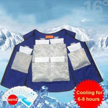 Summer Body Cooling Vest Ice Bag Air Conditioning Cooling Clothing For Outdoor Fishing Factory Industry Anti High temperature air conditioning vest cooling clothing aluminum alloy vortex tube worker welding cool clothes for high temperature environment