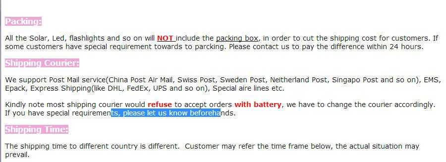 shipment notice0