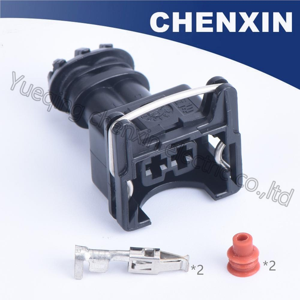 Chenxin 10Psc 2 Pin Efi Collection (3.5) Feminine Automotive Auto Wire Connector Ev1 282762-1 Waterproof Wire Connector Plug Auto Connector