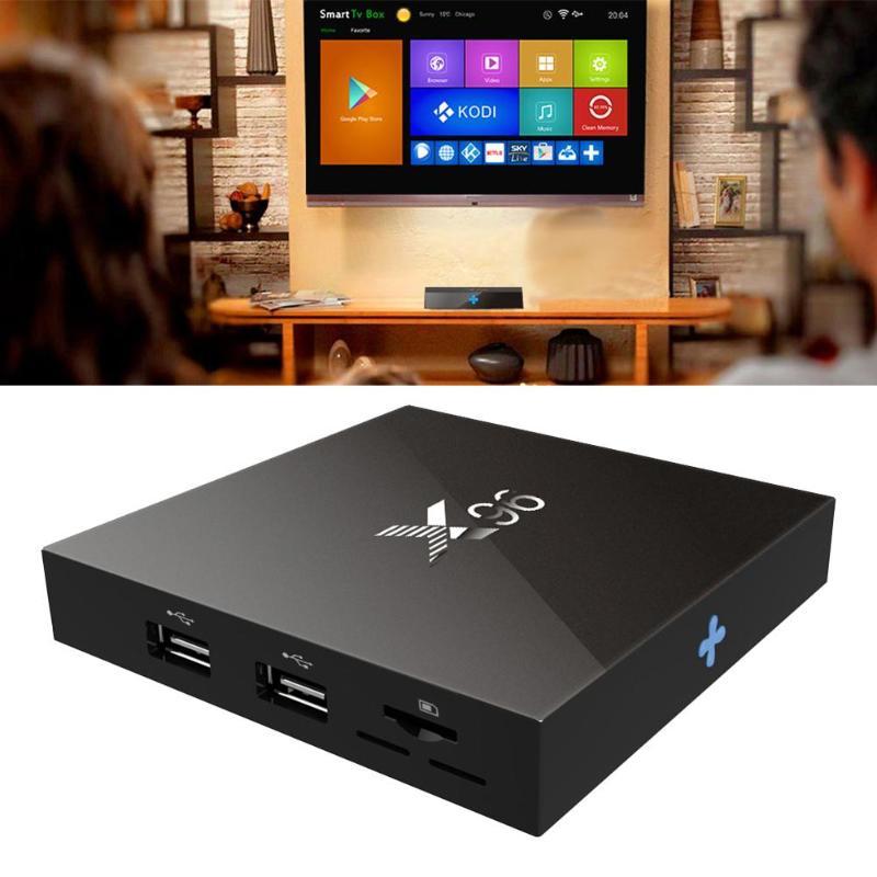 X96 Quad Core 1 GB + 8 GB Android 7.1.2 Amlogic S905W DLNA WiFi Smart TV Box
