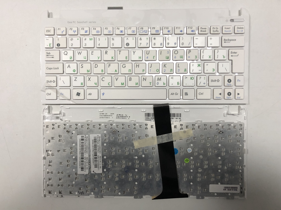 Russian Laptop Keyboard For ASUS Eee PC 1015 1015B 1015BX 1015PW 1015CX 1015PD 1011 1015PX White with frame Keyboard RU LayoutRussian Laptop Keyboard For ASUS Eee PC 1015 1015B 1015BX 1015PW 1015CX 1015PD 1011 1015PX White with frame Keyboard RU Layout
