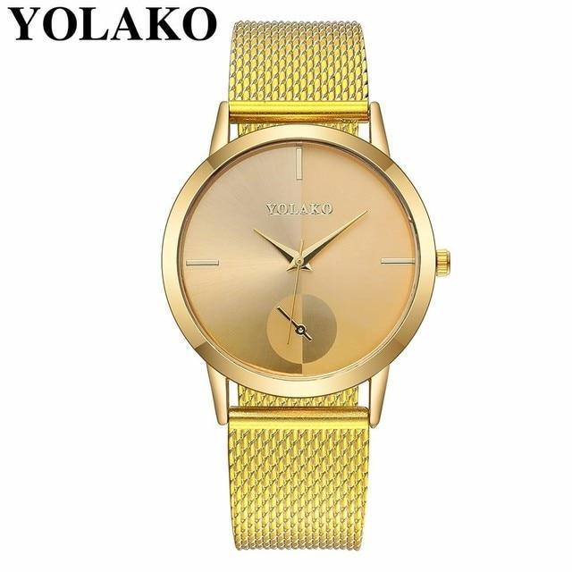 2019 Hot Fashion Women Quartz Watch Luxury Plastic Leather Analog Wrist Watches Female Clock YOLAKO Brand Relogio Feminino 3
