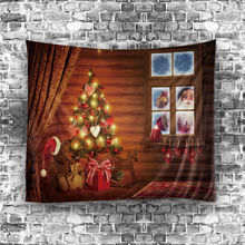 200CM 2018 Christmas Hanging Tapestry Wall Ornamentation Household Printing Wall Home Decor