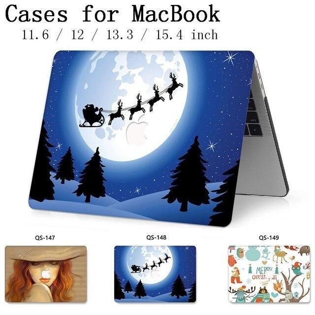 עבור מחשב נייד שרוול עבור MacBook רשתית 11 12 עבור מחברת מקרה MacBook 13.3 15.4 אינץ עם מסך מגן מקלדת קוב