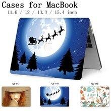 Para a Luva Do Portátil Para MacBook Air Pro Retina 11 12 Para Notebook MacBook Caso 13.3 15.4 Polegada Com Protetor de Tela teclado Enseada